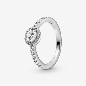 🔥PANDORA Classic Sparkle Halo Ring